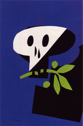 """Death Mask"" 1968. Art and Image copyright Paul Rand."