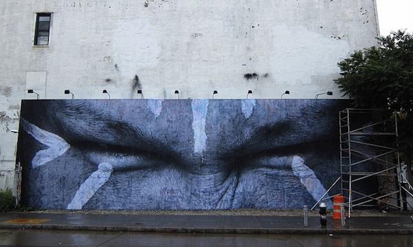 JR's Bowery Wall Mural