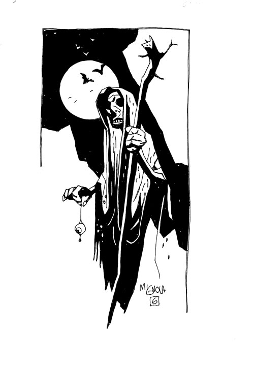 Witch with Eyeballs. Copyright Mike Mignola. All rights reserved.