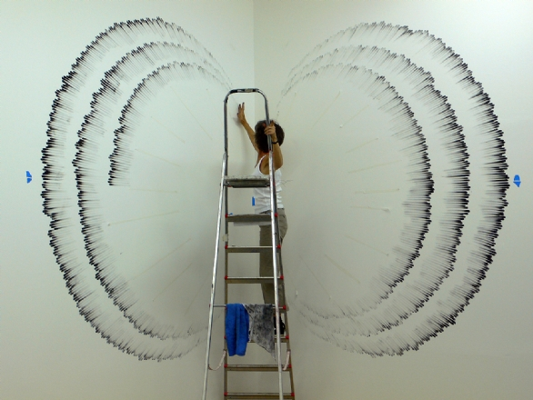 Installation pt 2. Art by Judith Braun. All rights reserved.