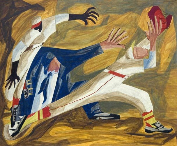'The Long Stretch' by artist Jacob Lawrence. All rights reserved.