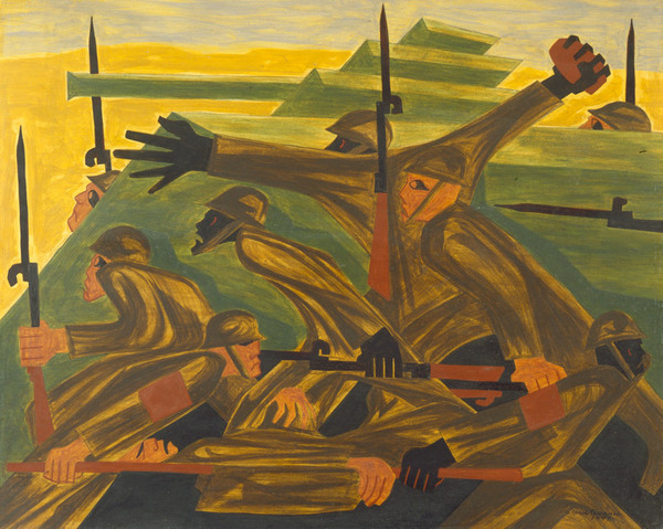 'Beachhead' by artist Jacob Lawrence. All rights reserved.