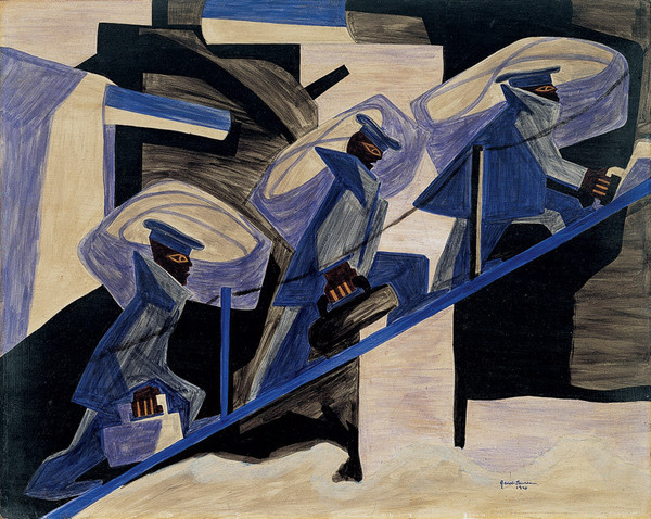 'Another Patrol' by artist Jacob Lawrence. All rights reserved.