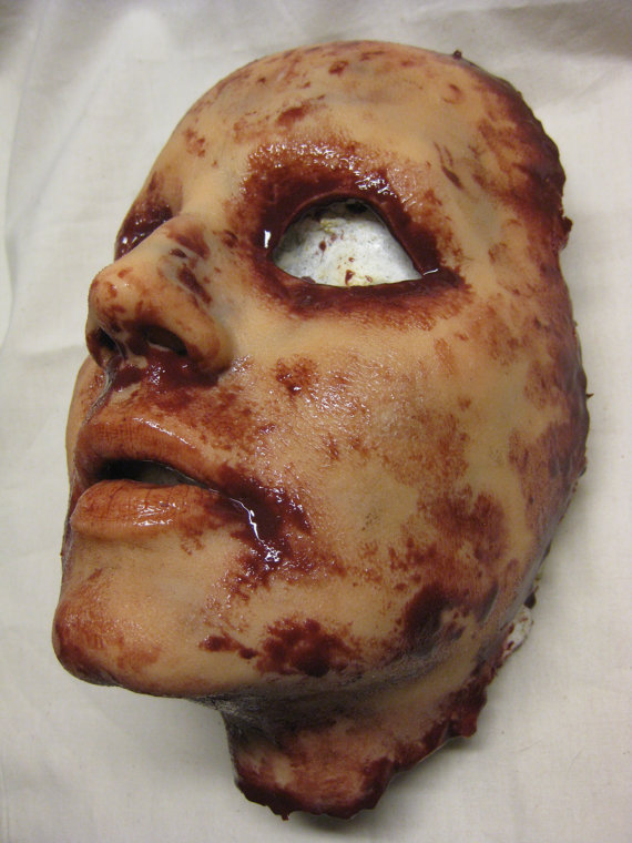 Skinned Horror Face Mask - Krystal - Art by The Shoggoth Assembly. All rights reserved.