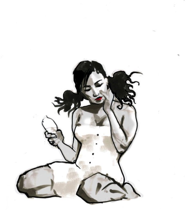 Dr-Sketchys-Singapore-PIN-UP-session-featuring-Violet-Jade-Grey. Artist unknown.