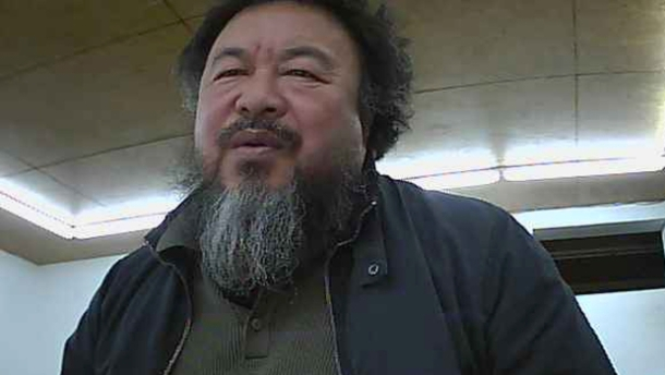 Ai Weiwei from his webcam.