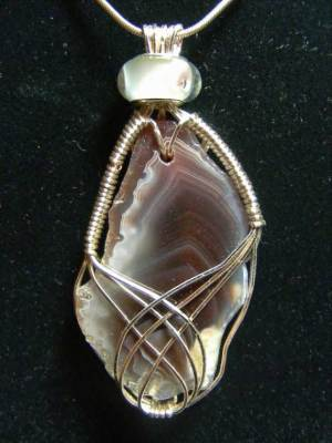 'Botswana Agate Pendant' by Rachelle Leon. All rights reserved.