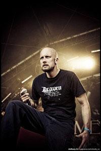 Lead singer Jens Kidman of Meshuggah