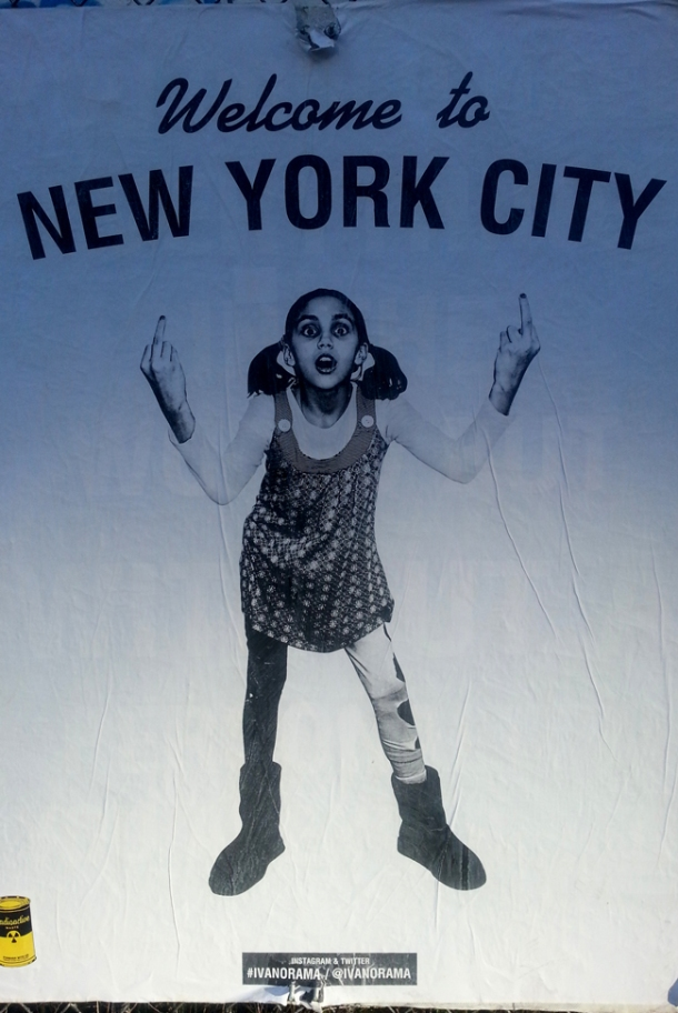 Welcome to NYC Bitches! Artist Unknown.