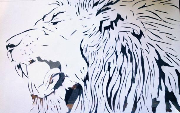 Lion stencil WIP_AWOL
