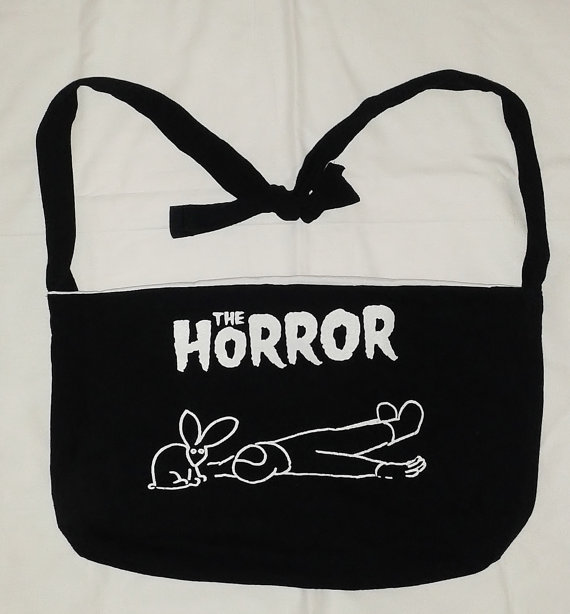 The Horror Recycled Band T-Shirt Tote by Rachelle Leon
