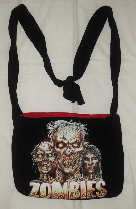 Zombies Recycled T-Shirt Tote by Rachelle Leon