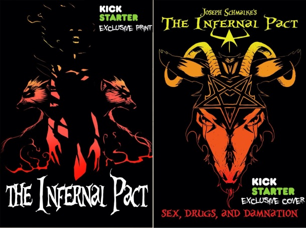 The Infernal Pact  Kickstarter Exclusive Print and Cover by Joseph Schmalke