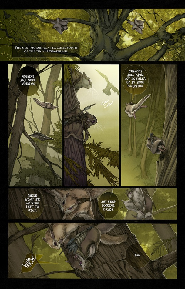Squarriors Interior Page Sample 1. Art by Ashley Witter