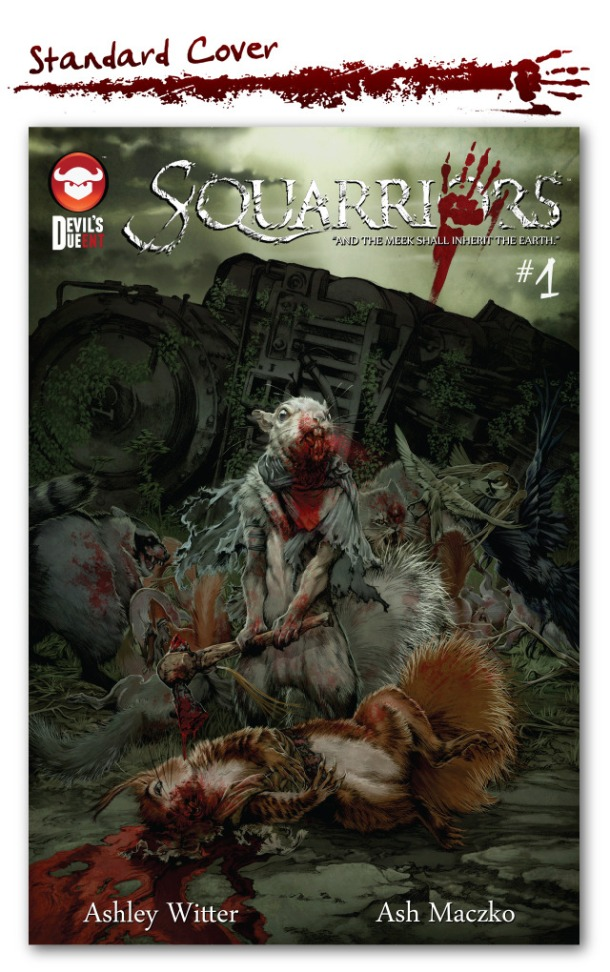 Squarriors #1 Cover. Art by Ashley Witter