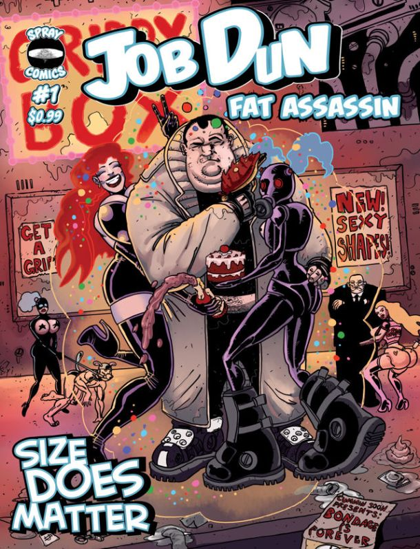 Job Dun, Fat Assassin_Cover #1. Art by Ben Michael Byrne. All rights reserved.