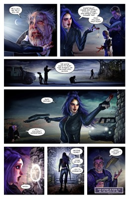 Cthulhu Williams: Dreamer's Gate, Page 10. Story: Tim Stiles, Art: Mortimer Glum, and revised Lettering by Shawn Greenleaf. Original Lettering roughs by Peeter Parkker.
