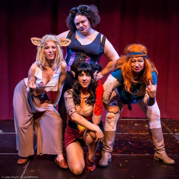 Seattle's own Rat Queens! Rebecca Mmm Davis, Crystal Tassels Johnson, Allexa Lee Laycock & Tootsie Spangles. Photo by Jules Doyle. All rights reserved.