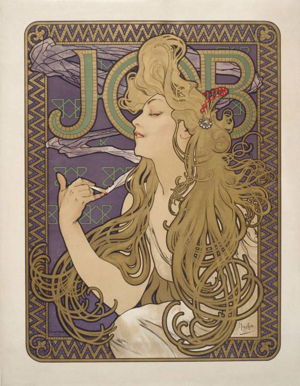 Job Advertisement, 1898. Alphose Mucha
