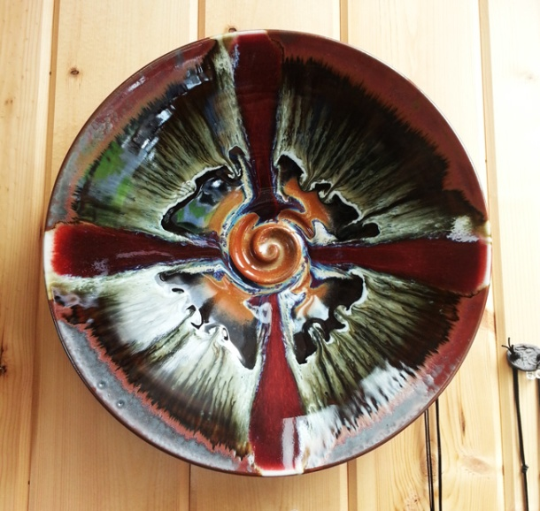 A piece of pottery from Orcas Island Pottery. Photo by Shawn Greenleaf.