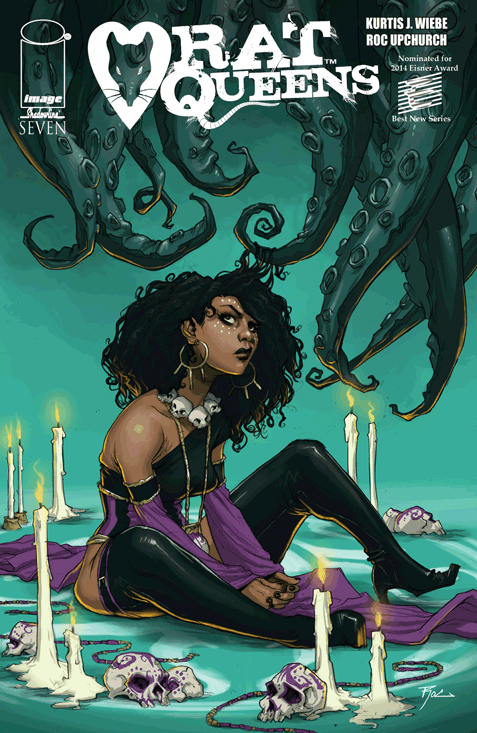 The Rat Queens #7 cover by Kurtis J. Wiebe and Roc Upchurch. All rights reserved.
