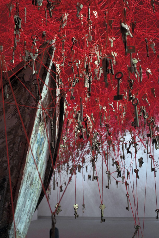 The Key in the Hand by artist Chiharu Shiota. Photo by Sunhi Mang.