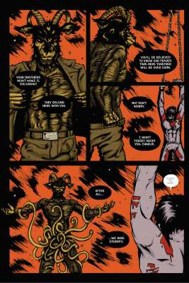 The Infernal Pact #2, Page 10. Art and story by Joseph Schmalke. Editing and lettering by Shawn Greenleaf.