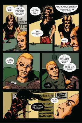 The Infernal Pact #2, Page 23. Art and story by Joseph Schmalke. Editing and lettering by Shawn Greenleaf.