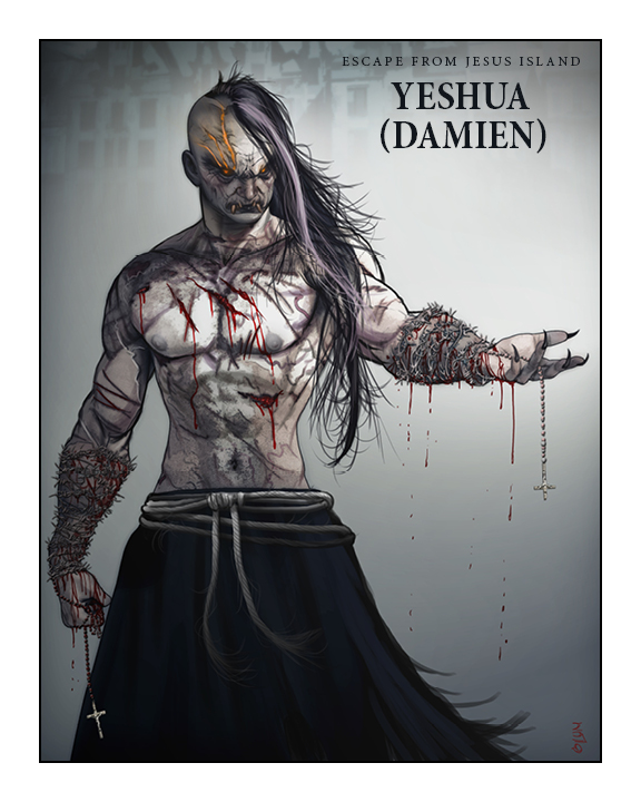 EFJI's Yeshua, AKA- Damien. Art by Mortimer Glum. All rights reserved.