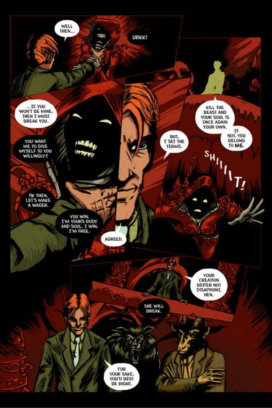 The Infernal Pact #3, Page 13. Art by Joseph Schmalke. Lettering by Shawn Greenleaf.